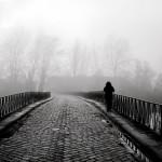 الجسر الذى ربما دارت عليه أحداث القصة بأحد أيام الشتاء