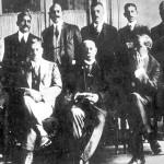 أعضاء الوفد المصرى بقيادة سعد زغلول الذى أدى قرار الحاكم العسكرى بنفيهم إلى أندلاع ثورة 1919
